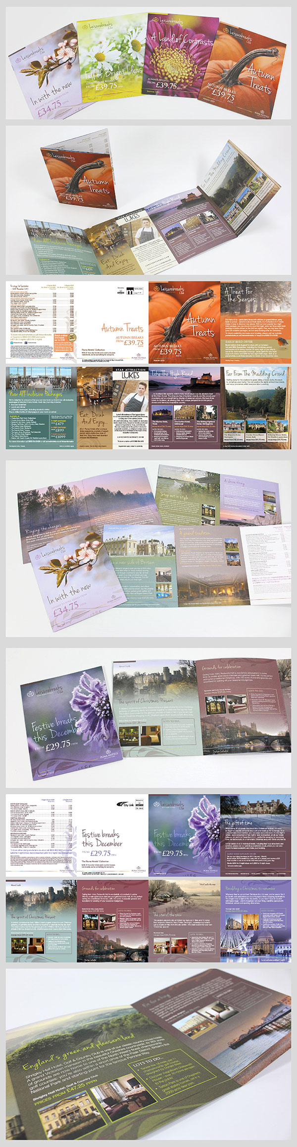 A beautiful series of direct mail pieces for Puma Hotels. Such a lovely colour palette and theme. Very British.