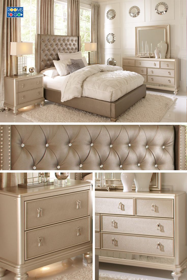 Beautiful Bedroom Sets With Mirror Headboard Collection Also Vanity In Dimensions 3000 X 2143 Champagne Colored Furniture