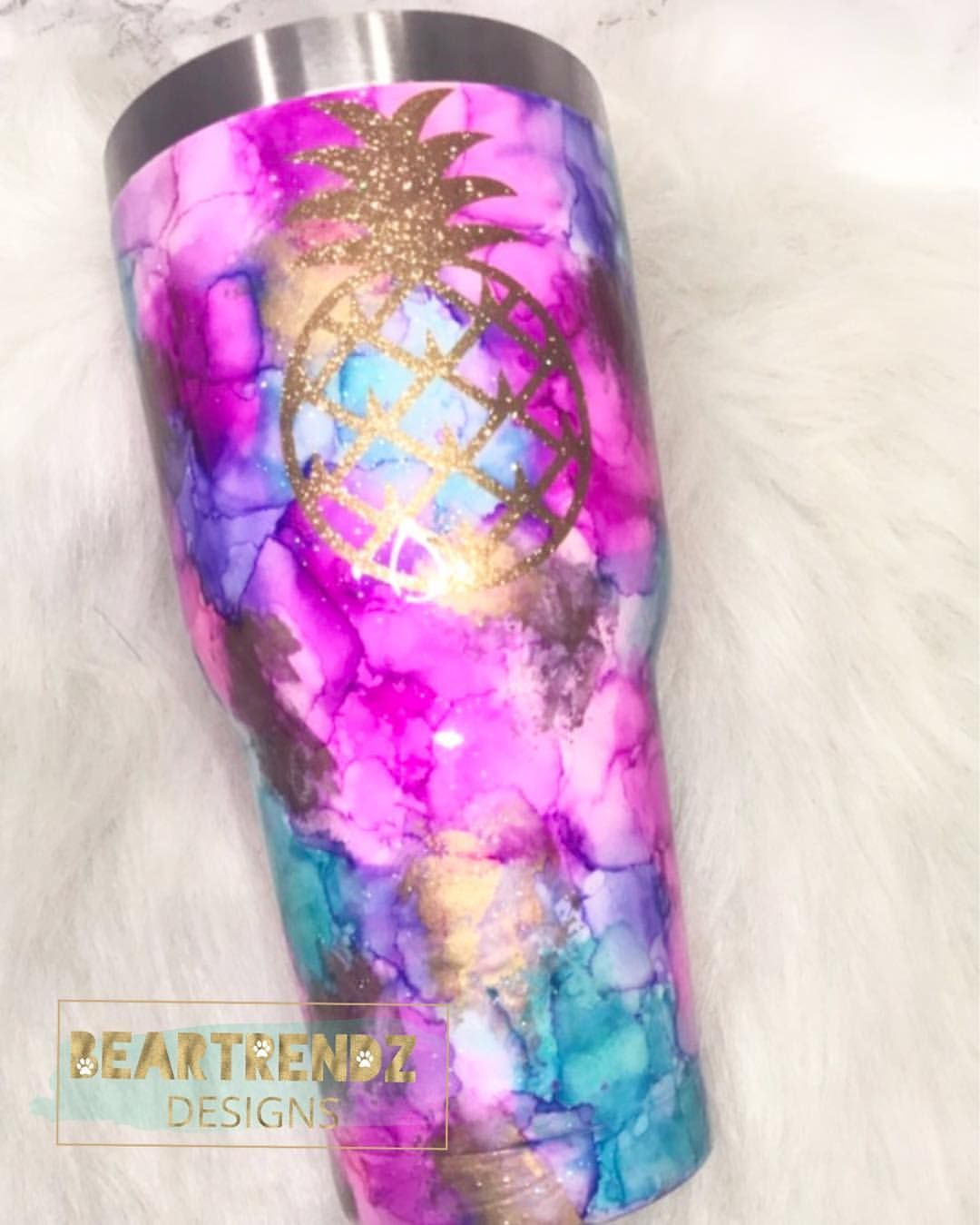 Watercolor Themed Tumbler With A Stunning Indian Headdress Decal