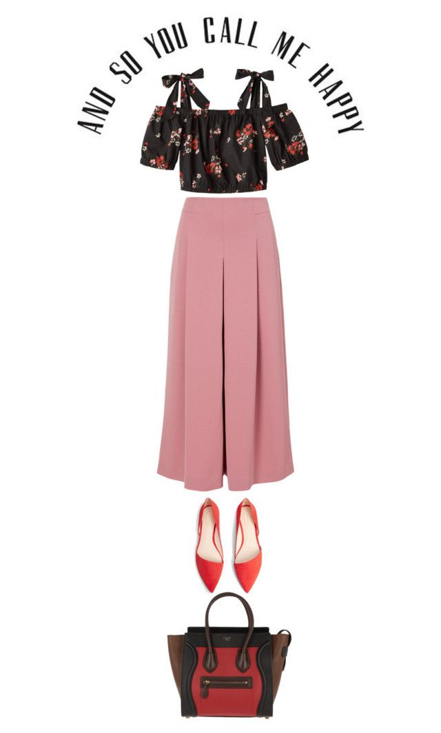 a happy day by ecem1 on Polyvore featuring polyvore fashion style Rebecca Taylor TIBI MANGO CÉLINE clothing
