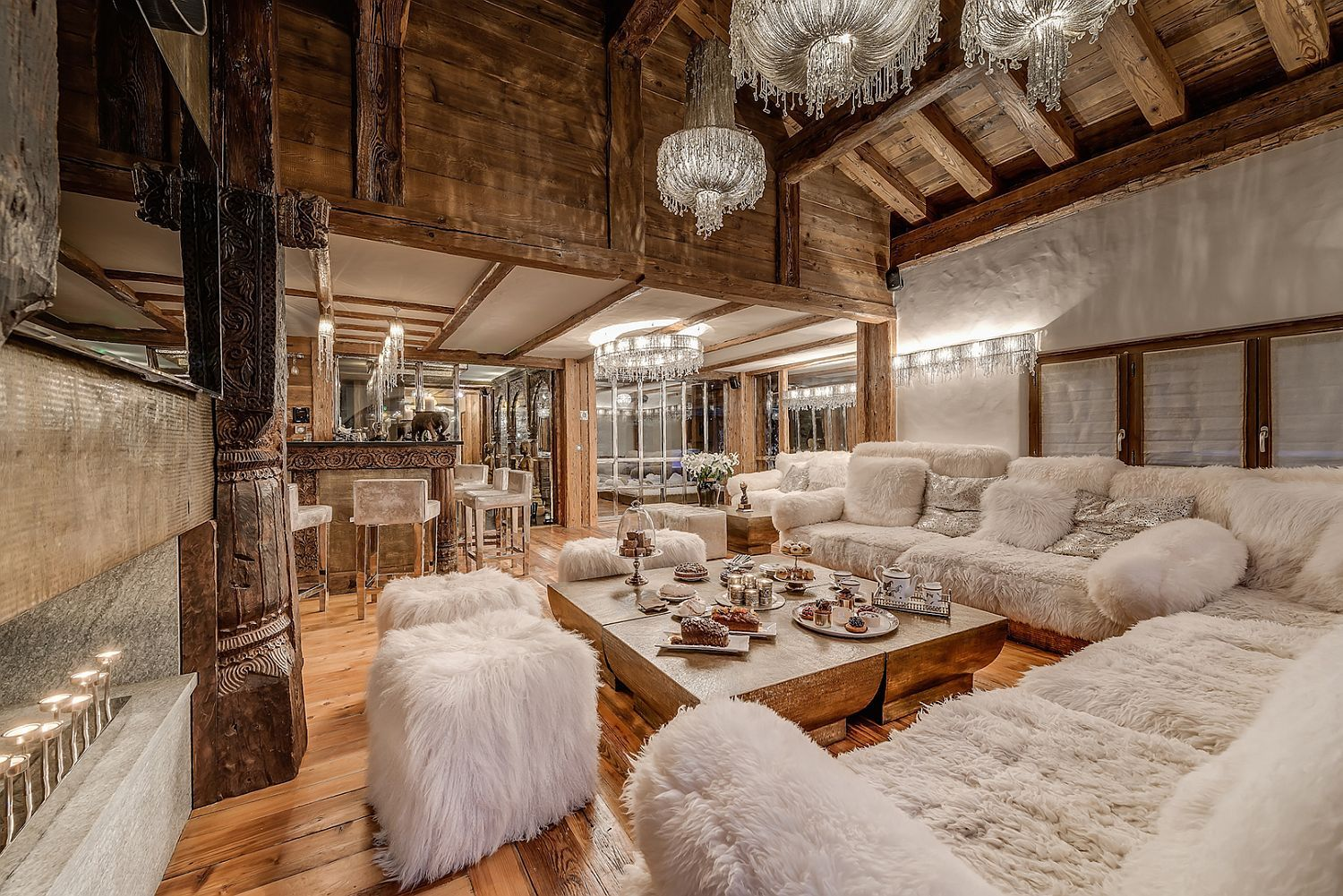 Alpine World Of Unparalleled Luxury Stunning Chalet Marco Polo In Val D Isere Chalet Interior Ski Chalet Chalet