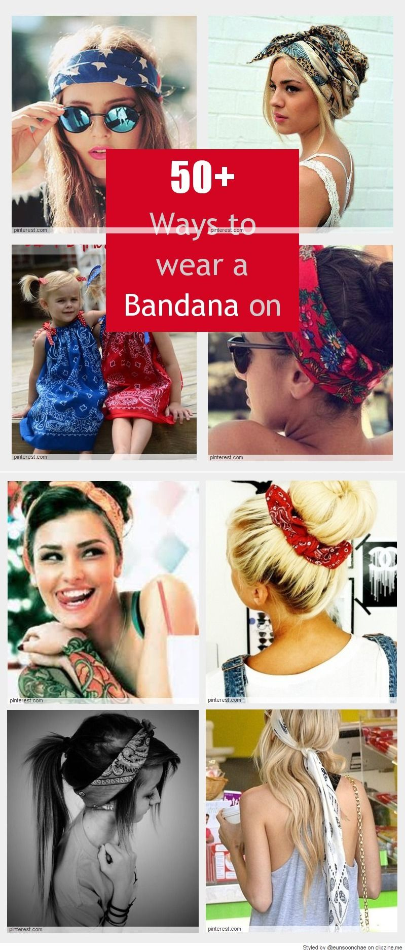 Cool ways to wear a bandana sieraden pinterest bandanas hair