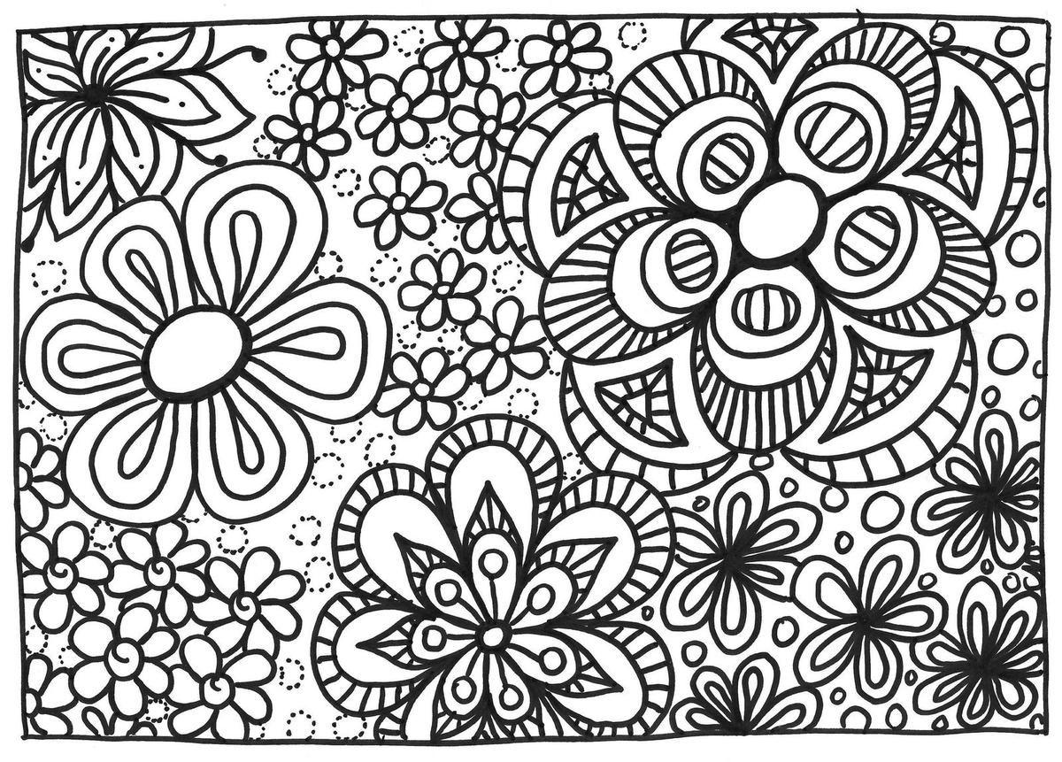 Coloriage fleurs coloriages pinterest coloriage coloriage fleur and dessin coloriage - Coloriage fleur britto ...