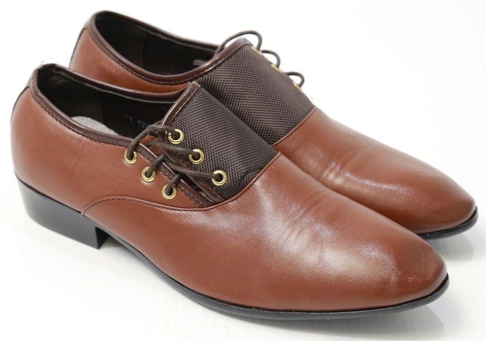 507ed8173dc Men s SW Xiu Xian Dress Shoes Brown Lace Up Modern Oxford 9.5  XiuXian   dressshoes  Casual