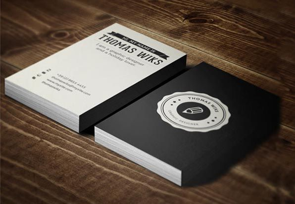 Tarjetas de presentación creativas branding Pinterest - tarjetas creativas
