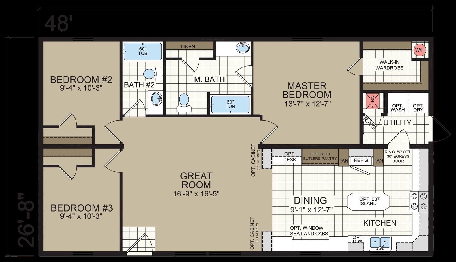 Bathroom Floor Plans 8×8