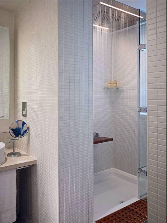 Schluter Rondec In White Bathrooms Bathroom Modern Bathroom Shower