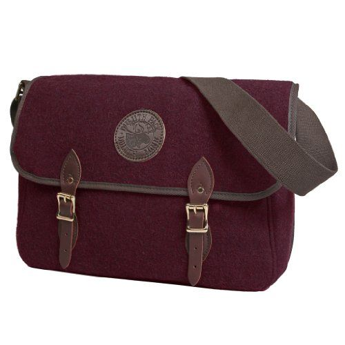 Duluth Pack Wool Standard Book Bag Burgundy - One Size Durable ...