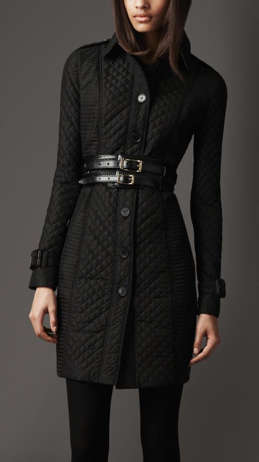 Long Quilted Trench Coat 1 Thestylecure Com Coat Trench Coat Trench Coat Outfit Winter