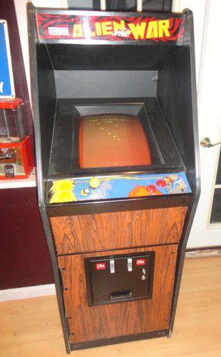 Vintage Cabaret style cabinet Eastern Alien war with Phoenix Game ...