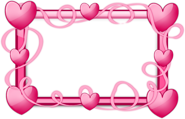 Pink Picture Frame Clip Art Free Pink Hearts Frame Clip Art Vector Clip Art Online Royalty Free Valentine Picture Heart Frame Free Clip Art