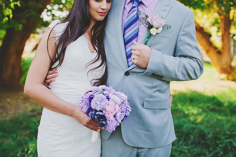 Purple fabric bouquet, #wedding