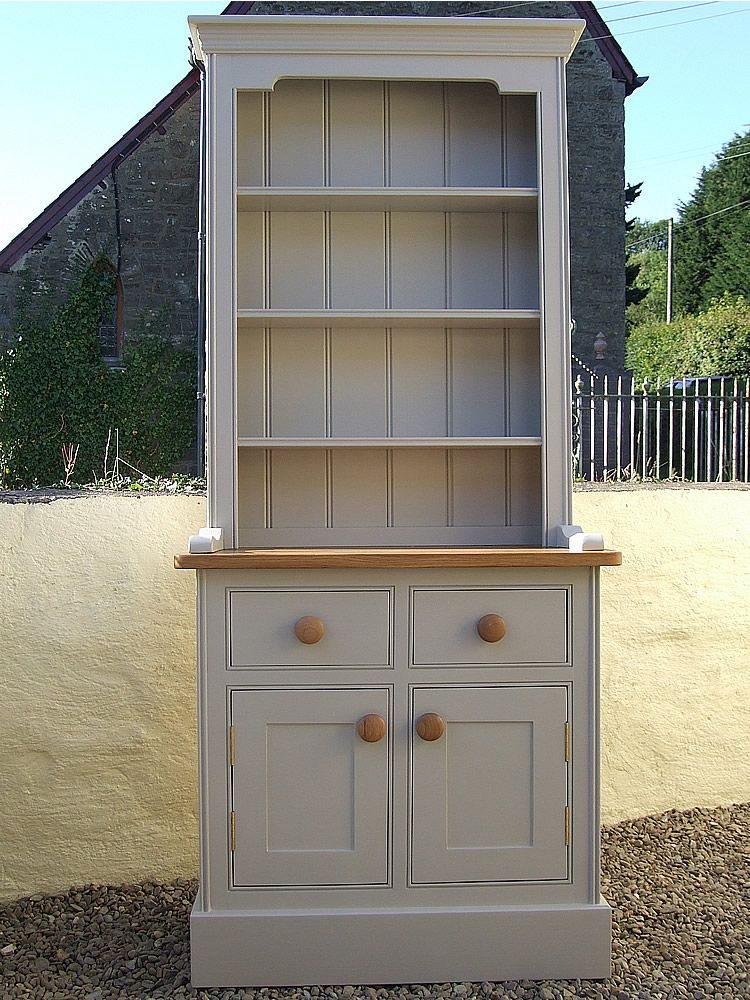 Best Small Painted Welsh Dresser Open Shelf Top W 36 Inches 640 x 480