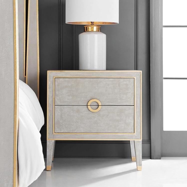 Modern History Retro Nightstand In Antique Grey In 2020 White
