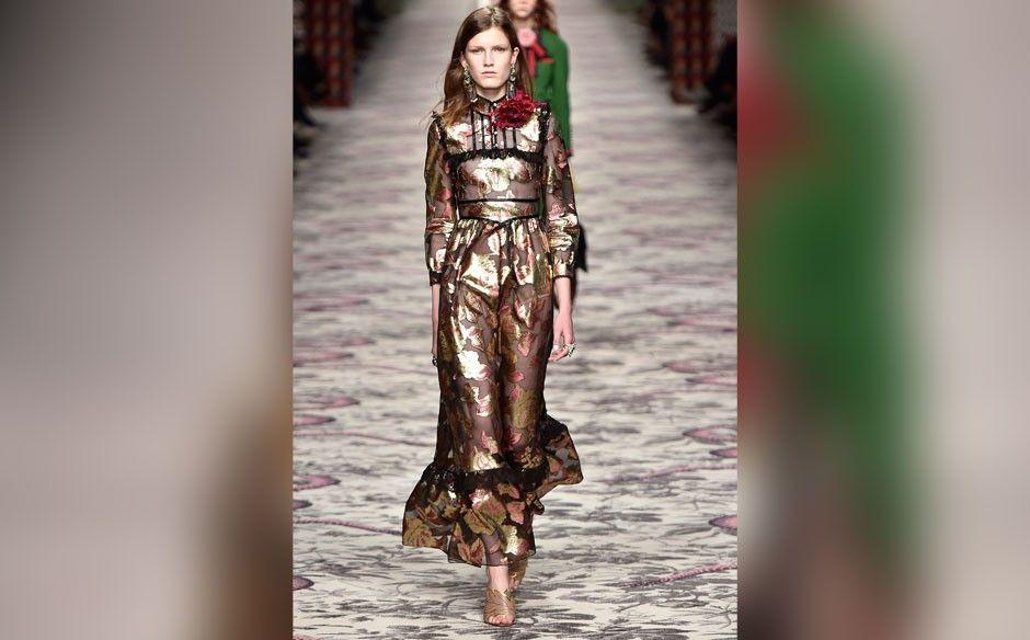 Gucci na Semana de Moda de Milão (créditos: Getty Images)Moda - GNT