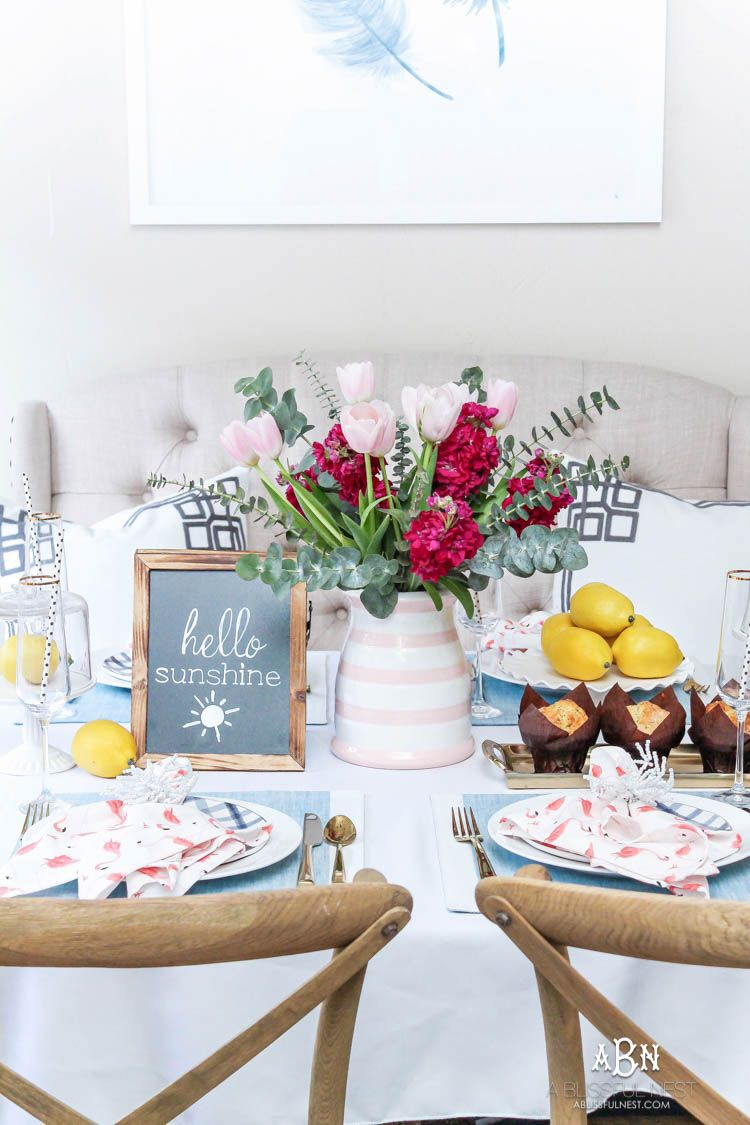 Brunch Tablescape Idea with Soft Summer Pastel Decor | Pinterest ...