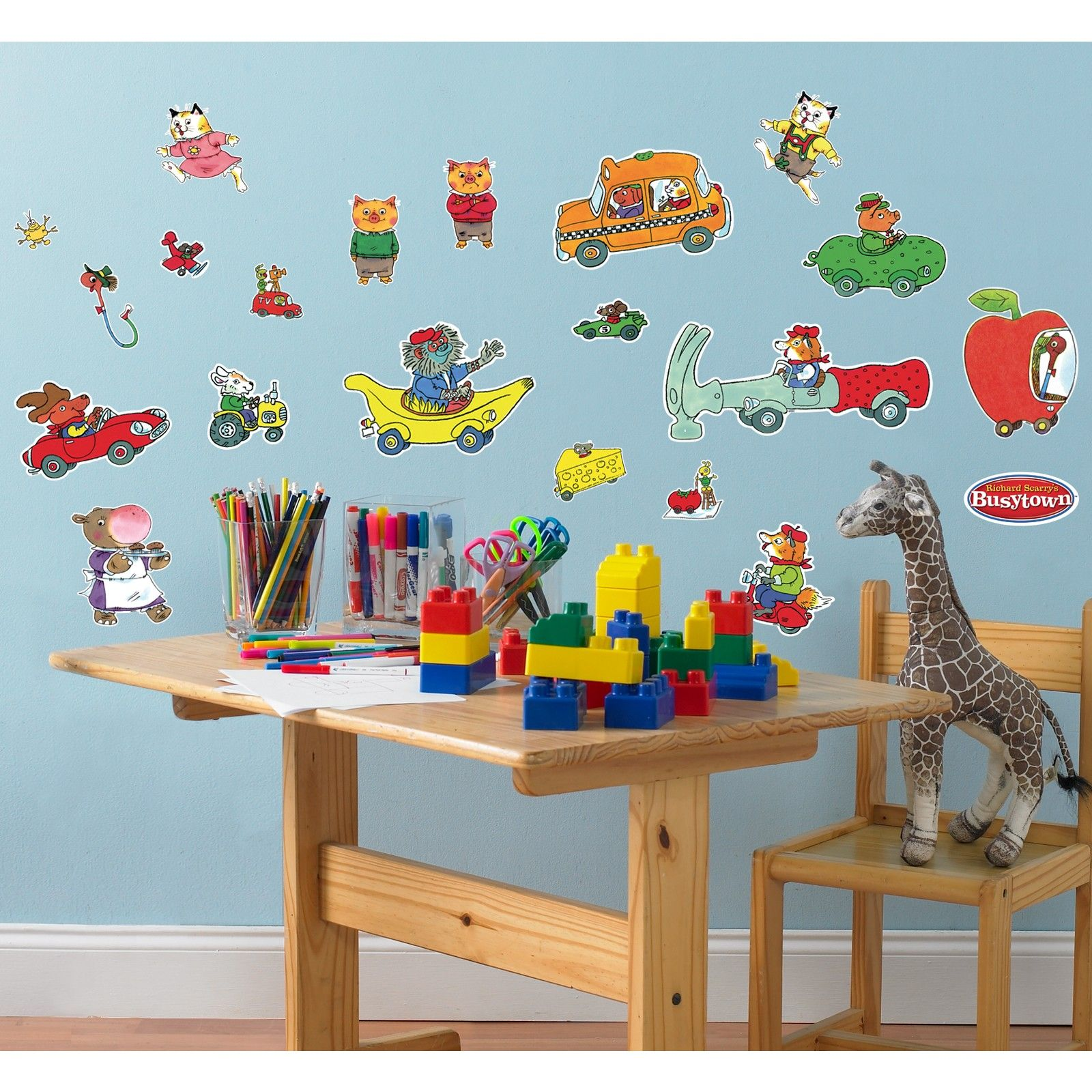 Richard Scarrys Busytown Removable Wall Decorations 80754 Busy