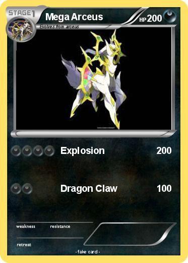 Pokémon Mega Arceus 33 33 - Explosion - My Pokemon Card