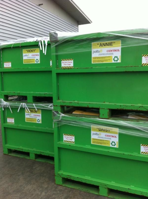 Some of our sexy recycling bins!
