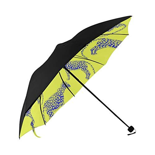 Umbrella Travel Lightweight Yellow Cute Natural Summer Leopard Underside Printing Clear Umbrella Wedding Travel Umbrella For Kids Umbrella Large Travel With 95% Uv Protection For Women Men Lady Girl #clearumbrella