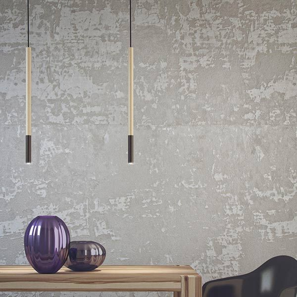 subtle lighting. a stick thin led pendant lamp that is minimal in form but gives off the perfect subtle lighting e