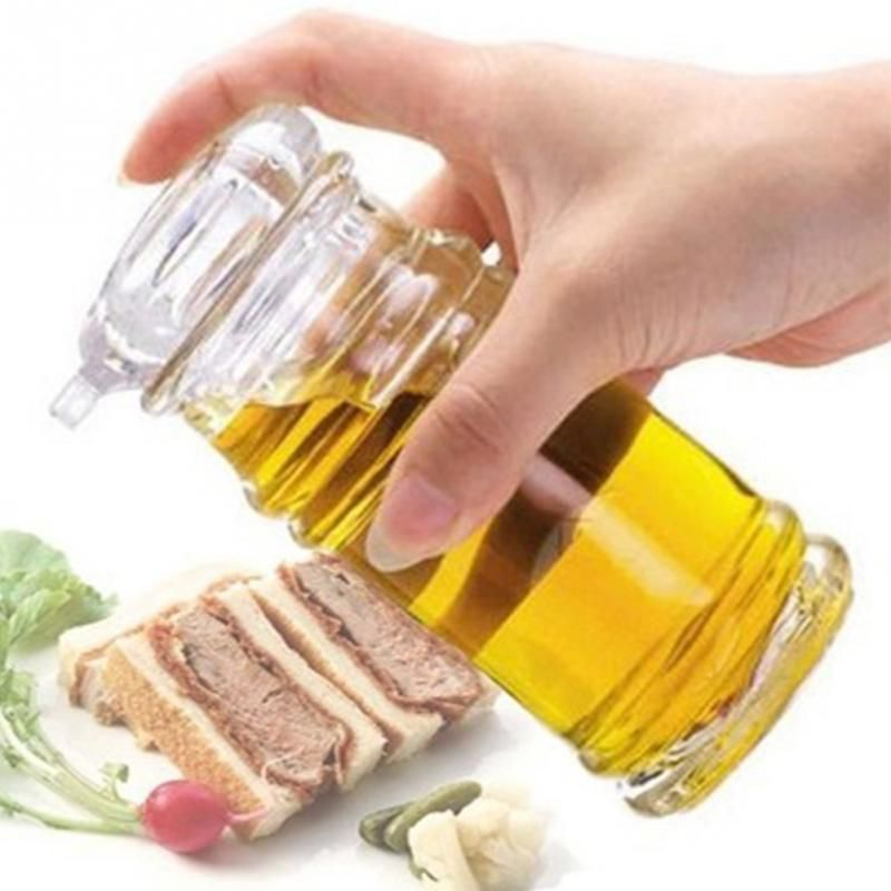 Clear Acrylic Soy Sauce Vinegar Olive Oil Bottle BBQ