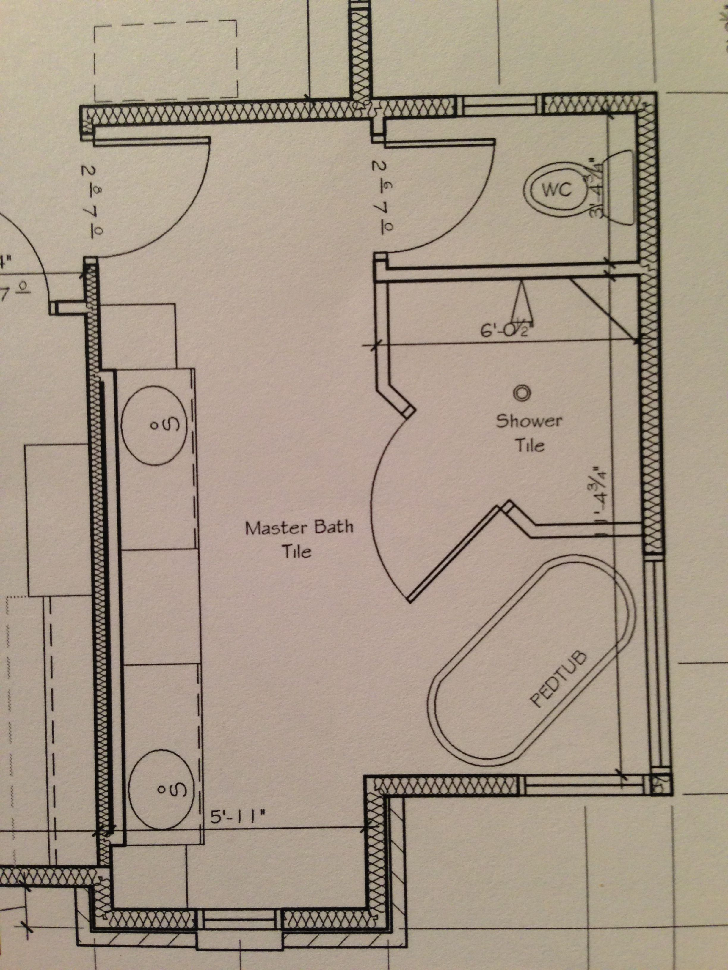 Make sure to plan for towel bars in Bath floor plan and reinforce that area with wood before