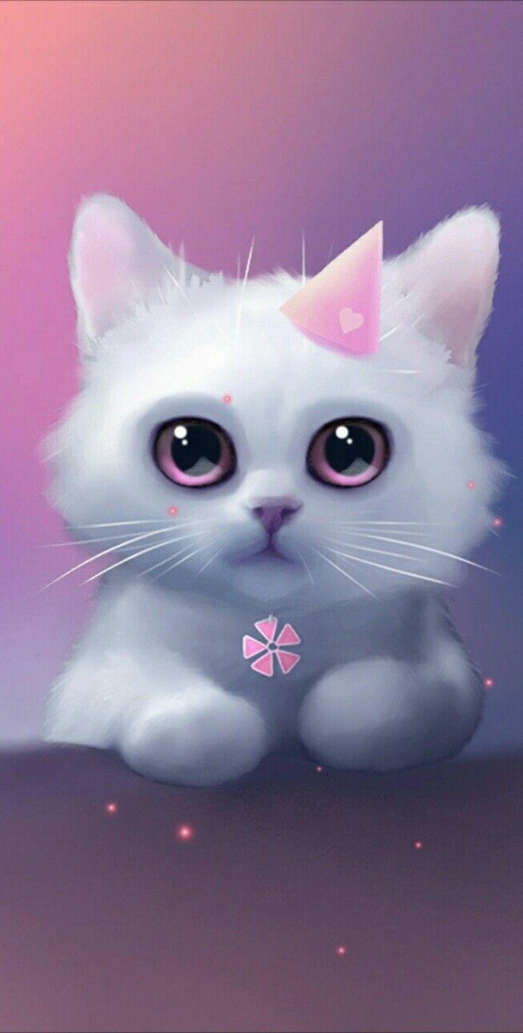 Wallpaper Iphone Android Art Cute Drawings Cute Cat Wallpaper Cute Animals