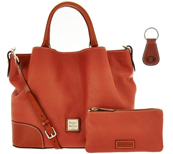 c9ae6e18bf Treat yourself or someone special to this Dooney   Bourke Pebble Leather  Brenna Satchel. Page 1 QVC.com