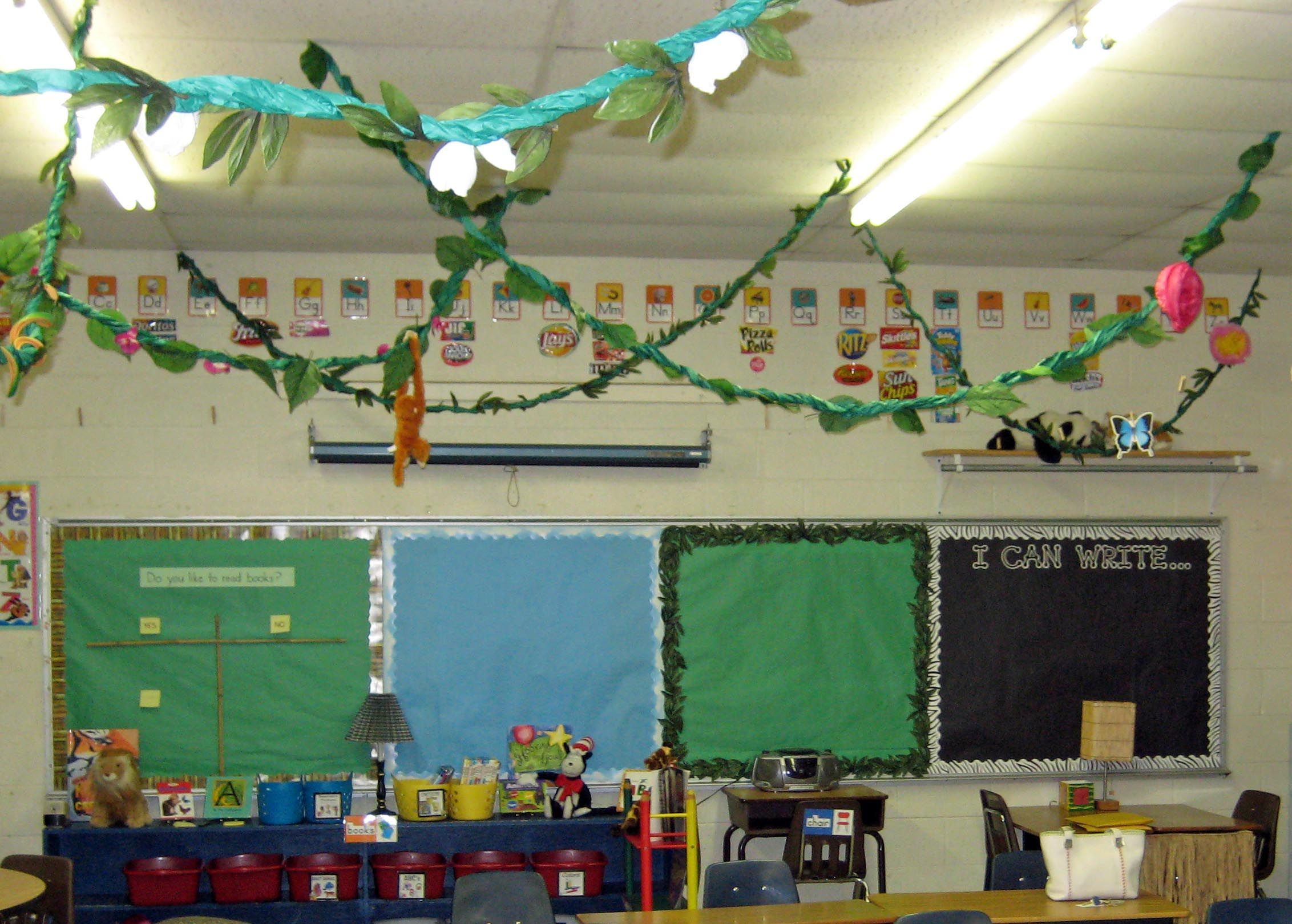 Jungle Theme Classroom Decorating Ideas Part - 20: Jungle Theme Classroom · For Ceiling. Decorate With Flowers And Butterflies