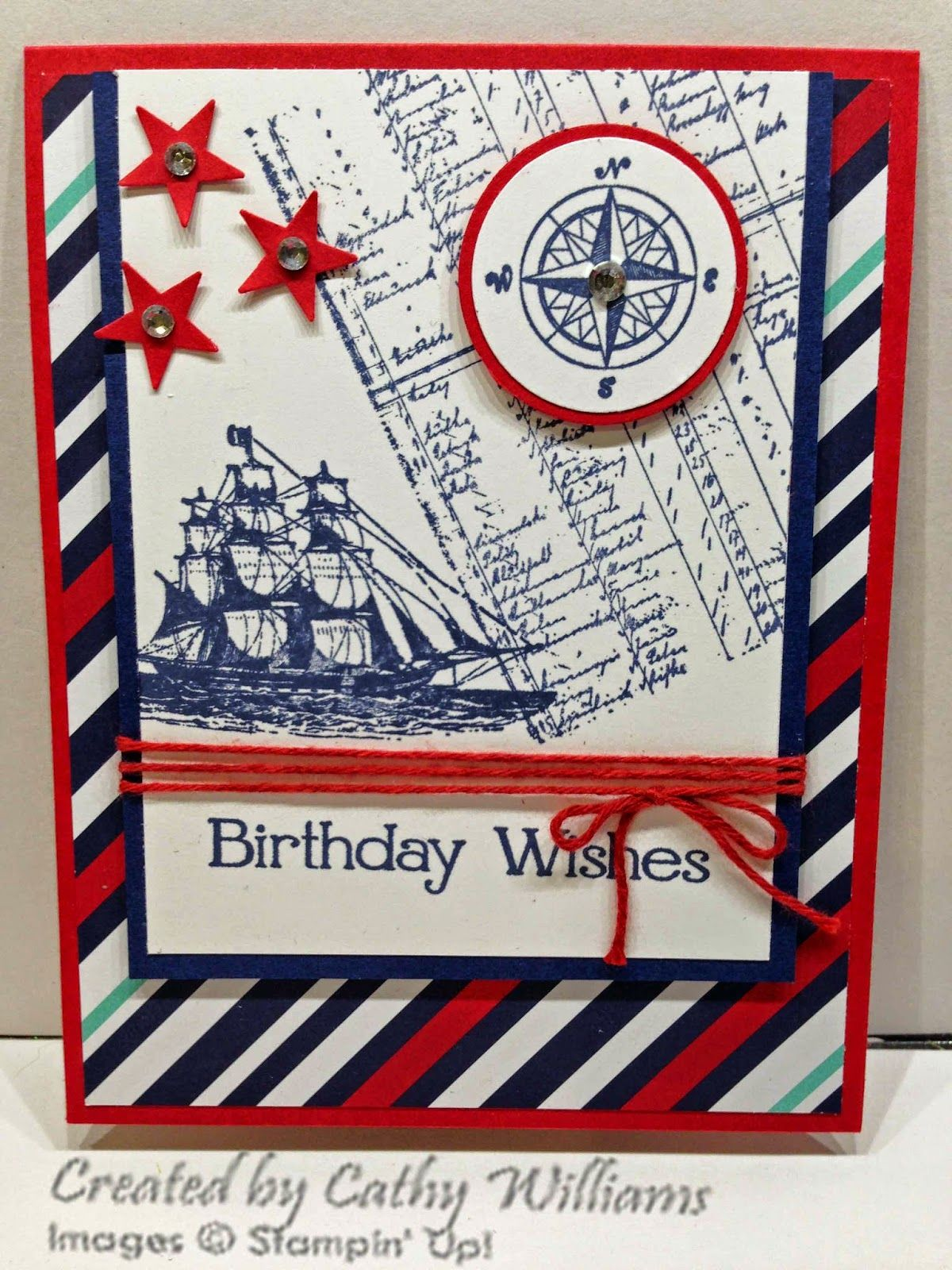 Inking It Up With Cathy Male birthday card using The Open Sea by – Male Birthday Greetings