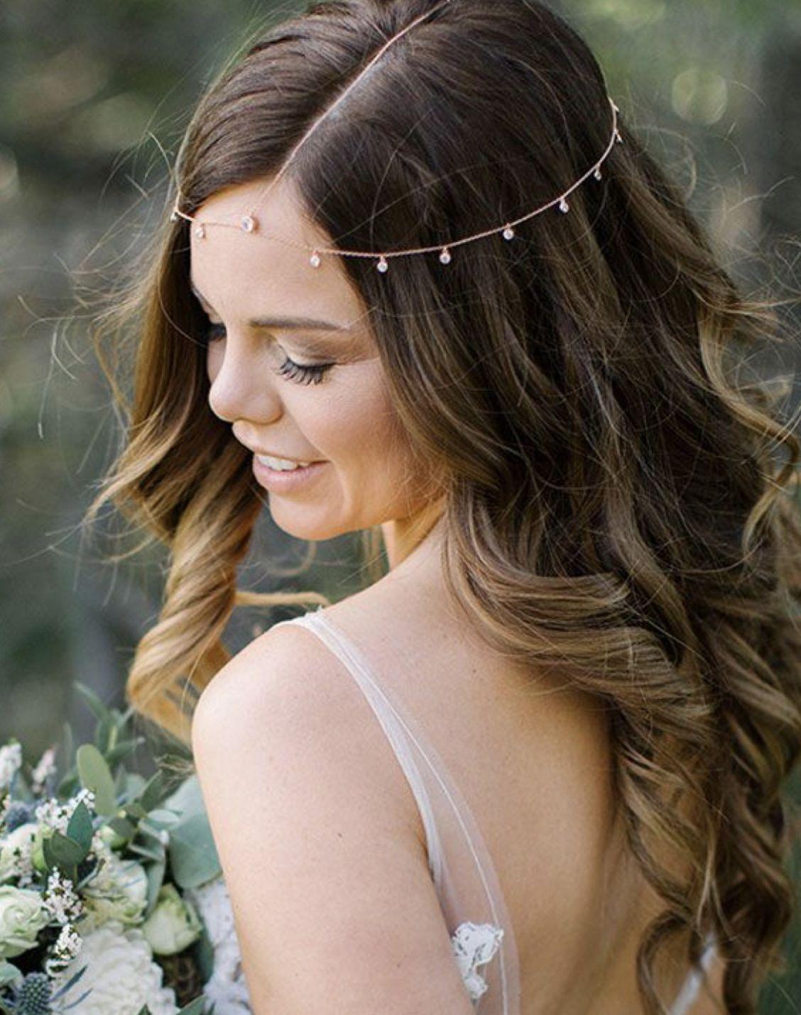 Kopfschmuck Hochzeit Offene Haare