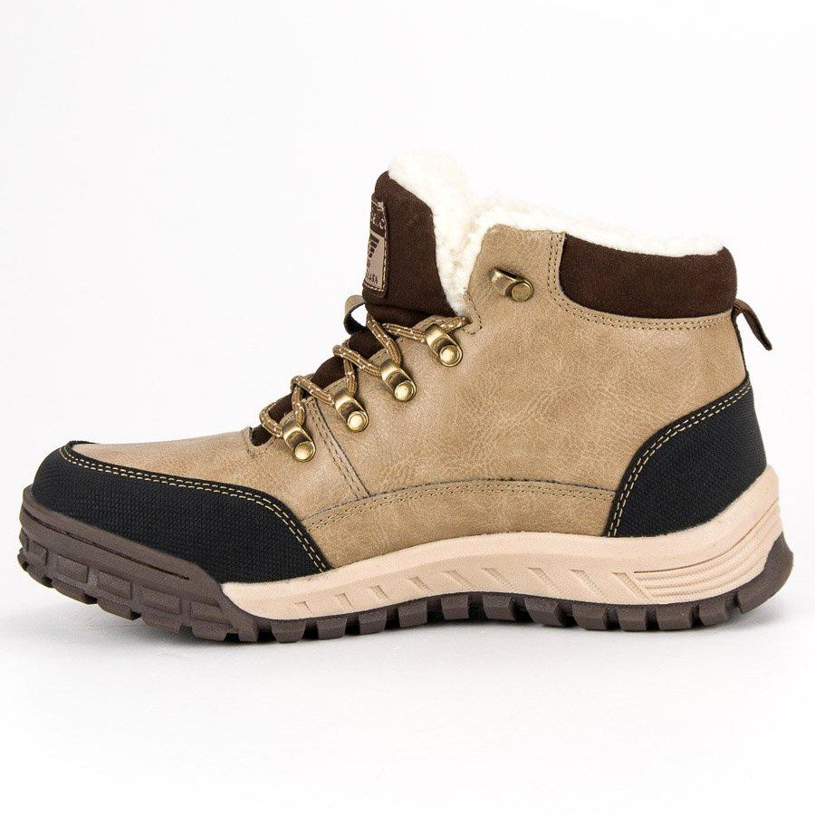 Trekkingowe Meskie Arrigobello Arrigo Bello Brazowe Cieple Buty Zimowe Sneakers Shoes Fashion