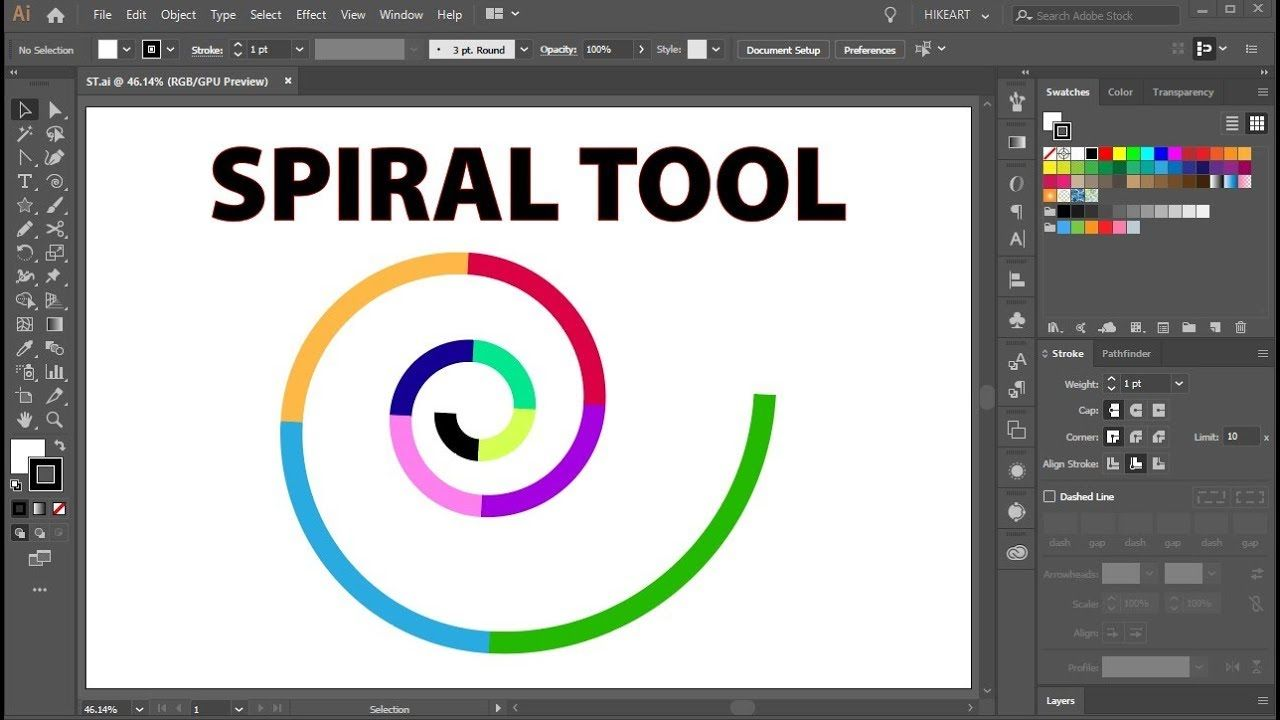 How To Use The Spiral Tool In Adobe Illustrator Youtube Adobe Illustrator Adobe Illustrator Tutorials Illustrator Tutorials