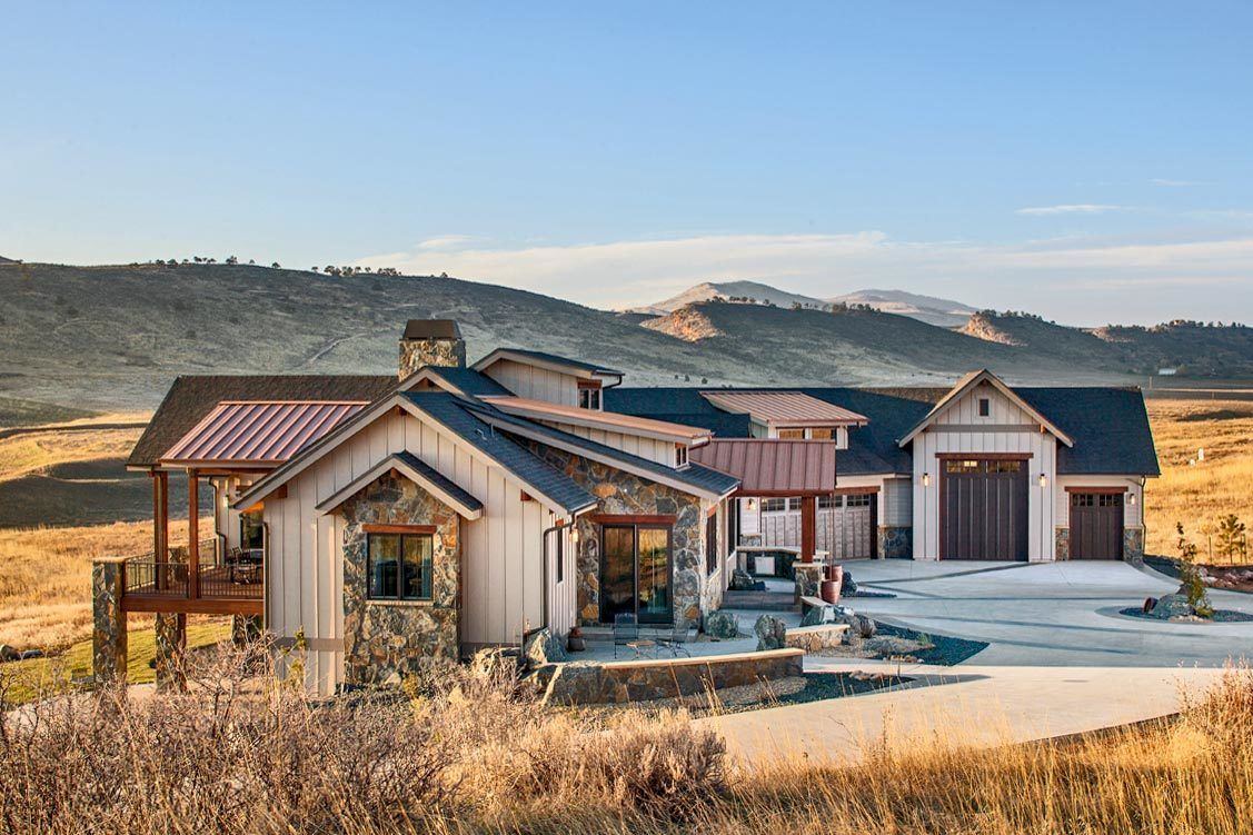 Intricate Mountain Home Plan with Optional Lower Level #mountainhomes