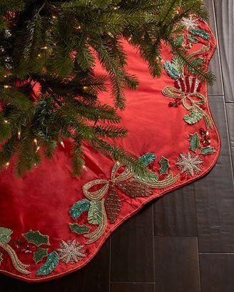 Kim Seybert Frosted Pine Christmas Tree Skirt Christmas Goodies