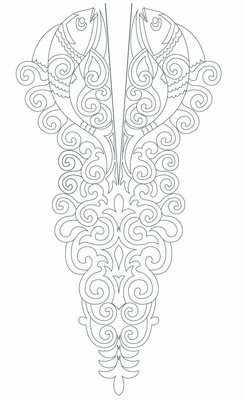 Kameez Neck Line Embroidery Design