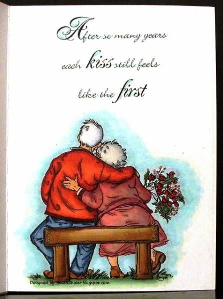 First Kiss Happy 69th Wedding Anniversary Inside Of
