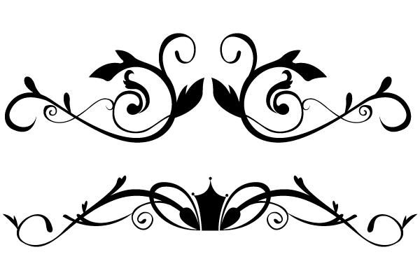 Vector Floral Ornamental Border Clip Art Download Free