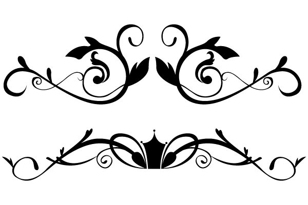 Vector Floral Ornamental Border Clip Art Designs