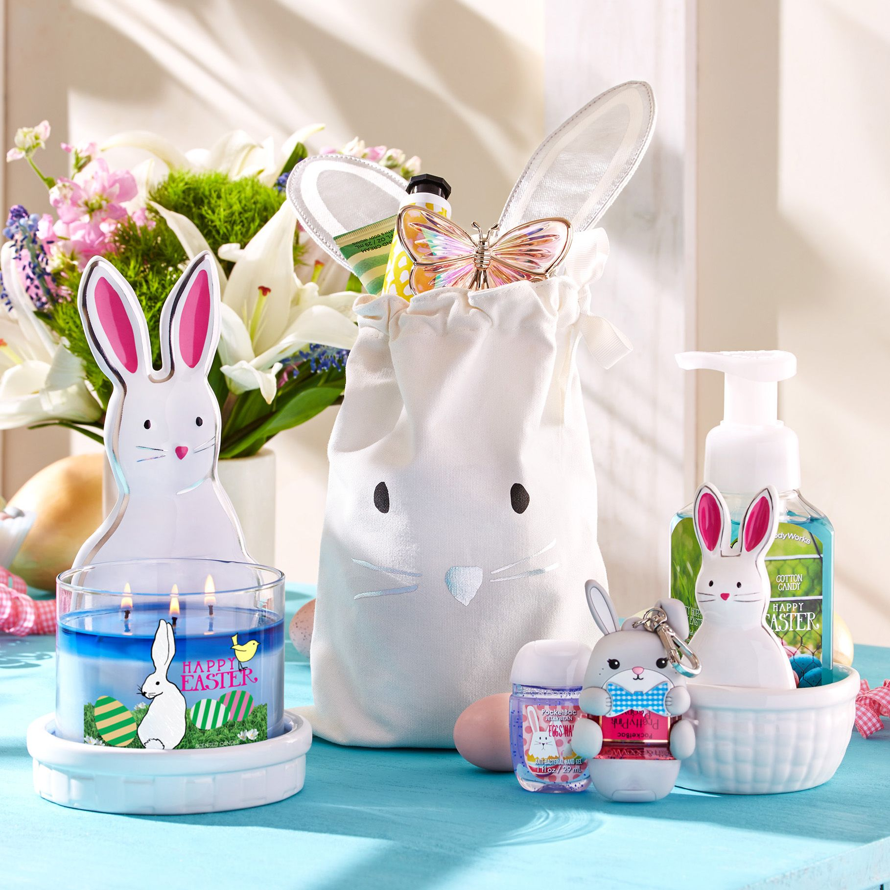 Easter bunny picks for your home!  Bath body works candles