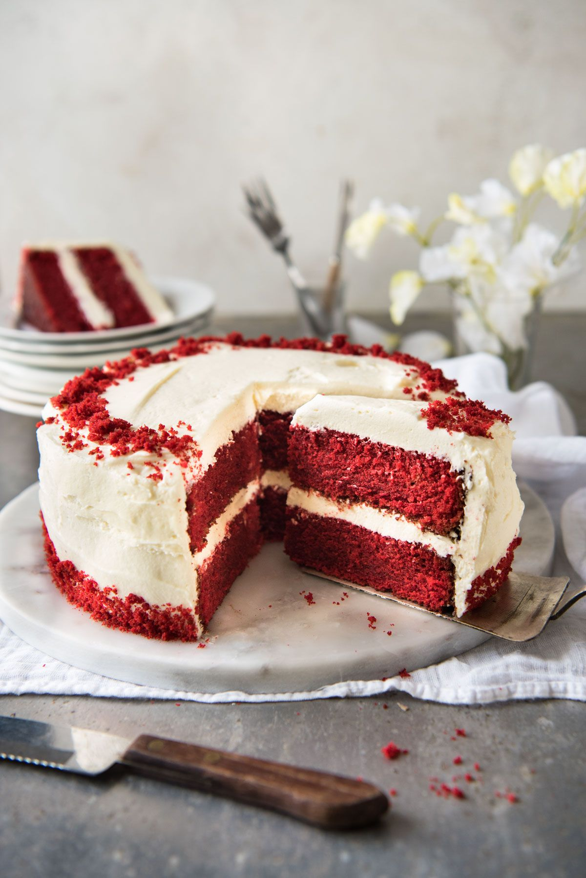 Red Velvet Cake Recipe Cake Recipes Food Cake With Cream Cheese