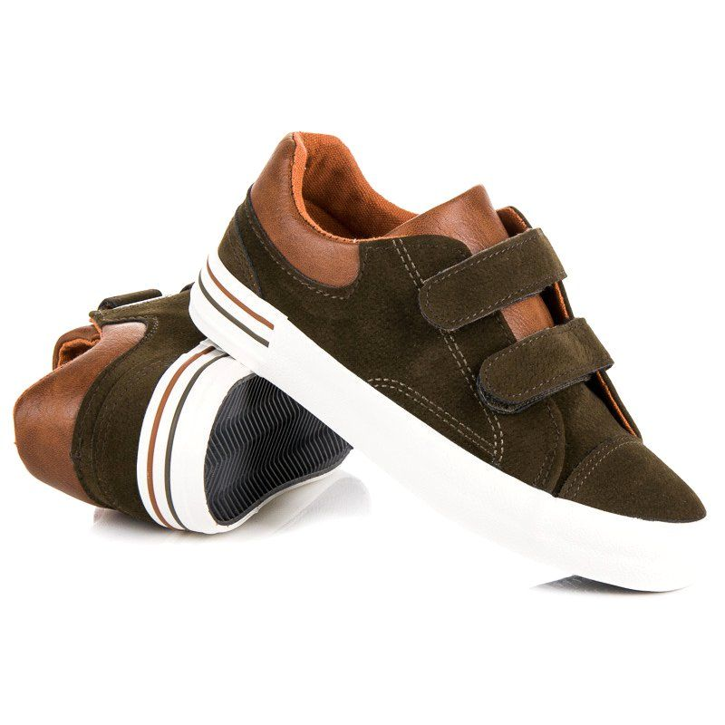 Buty Sportowe Dzieciece Dla Dzieci Butymodne Zielone Zamszowe Trampki Na Rzepy Butymodne Sneakers Baby Shoes Shoes