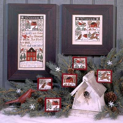 OOP Winter Wind Book No. 133 INCLUDES THREADS : Prairie Schooler cross stitch patterns December Christmas holidays hand embroidery by thecottageneedle