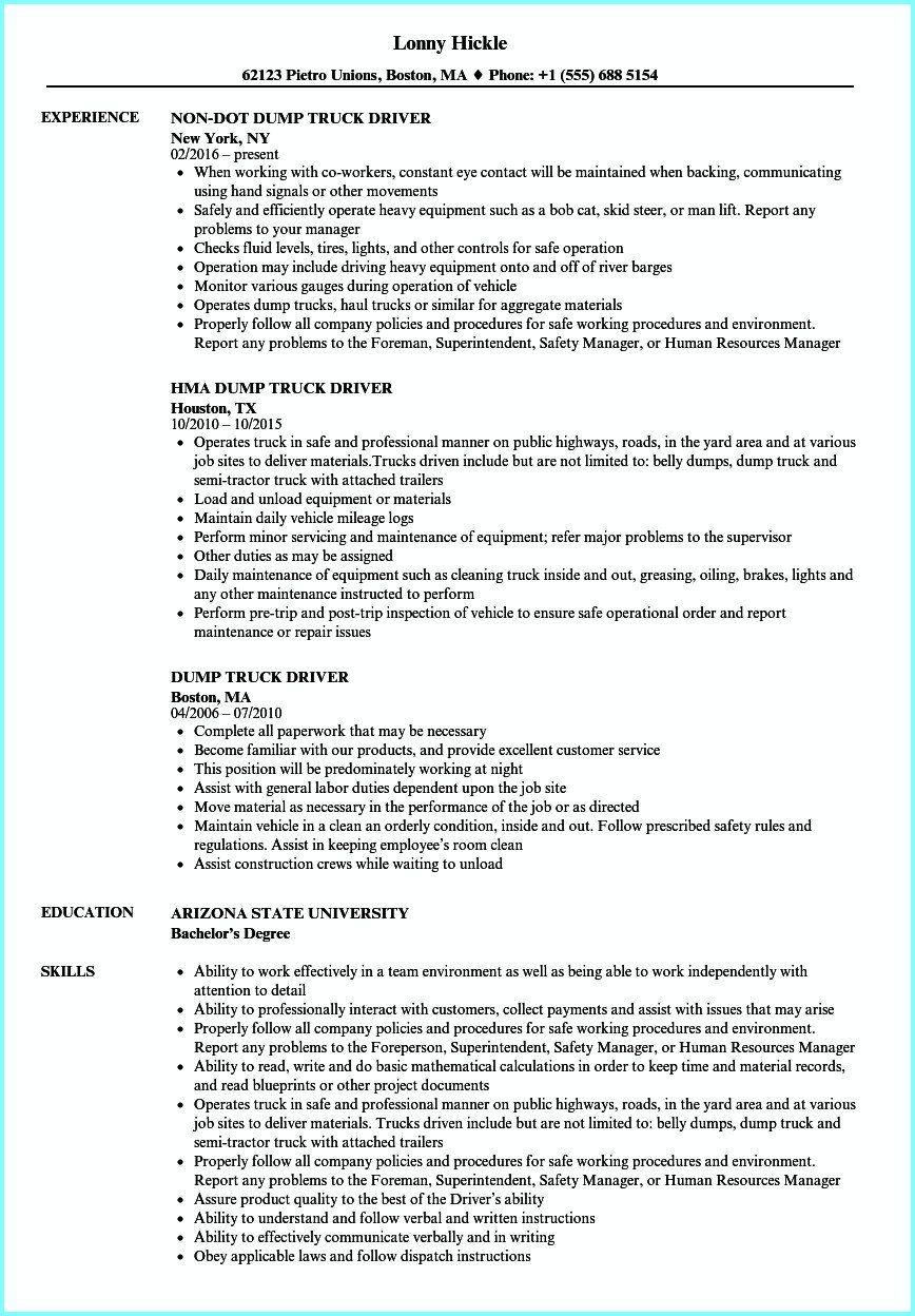 Cdl Truck Driver Job Description For Resume New Truck Driver Resume Sample Letter Templates Cdl Examples Pdf Job Resume Examples Driver Job Truck Driver Jobs