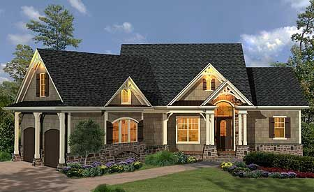 Plan 15884GE: Gabled 3 Bedroom Ranch Home Plan | Mountain house ...