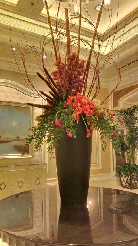 Fall floral arrangement at the Bellagio Hotel Convention Center Las - decorar jarrones altos