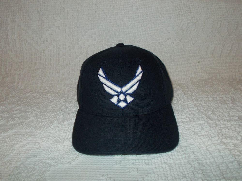 fa2e5ad70dd U.S. Air Force Insignia Embroidered USAF Wings Blue Baseball Cap Hat  Trucker