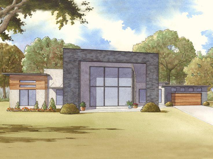 075H-0002 Modern Ranch House Plan Modern House Plans Pinterest