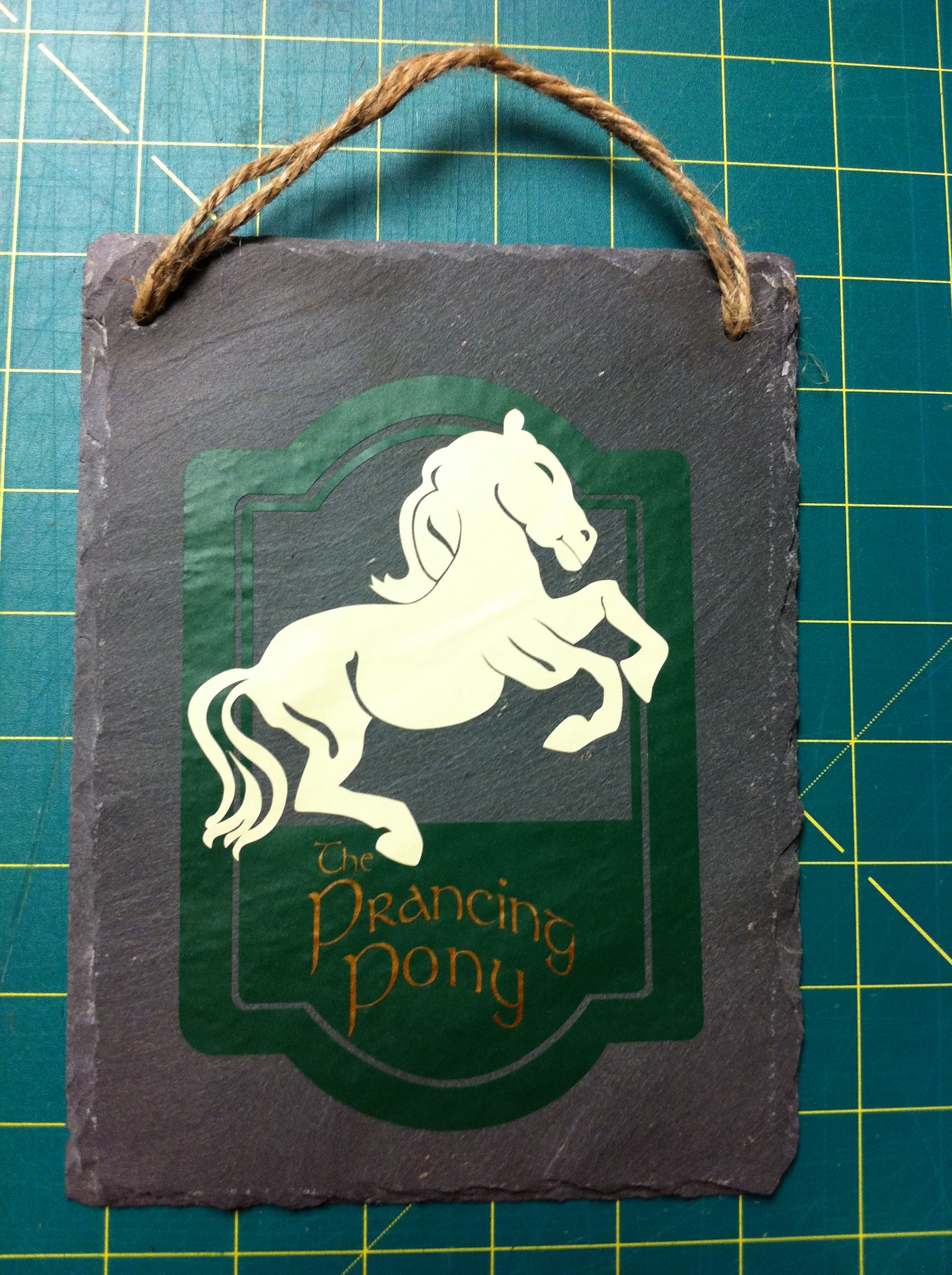 The Prancing Pony Sign I Made For My Lord Of The Rings